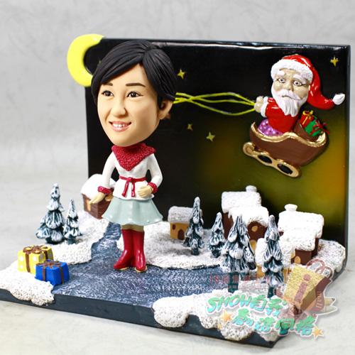 > 圣诞雪景 冬季恋歌-女